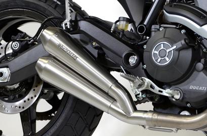 Spark Auspuff Ducati Scrambler 800 / 803 Slip-On Classic Double
