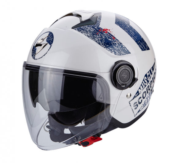 Scorpion EXO-CITY HERITAGE weiss-blau