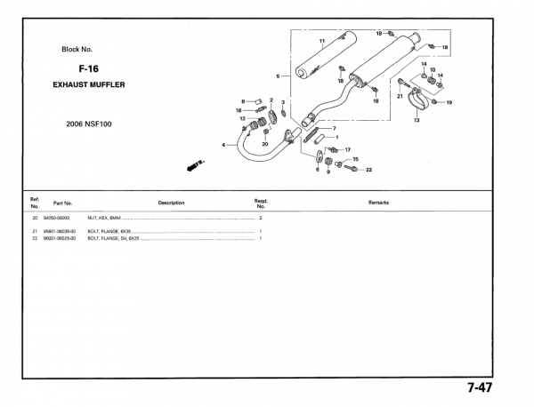 Honda FLANSCHENSCHRAUBE, 6X25, Honda-Teilenummer 960010602500