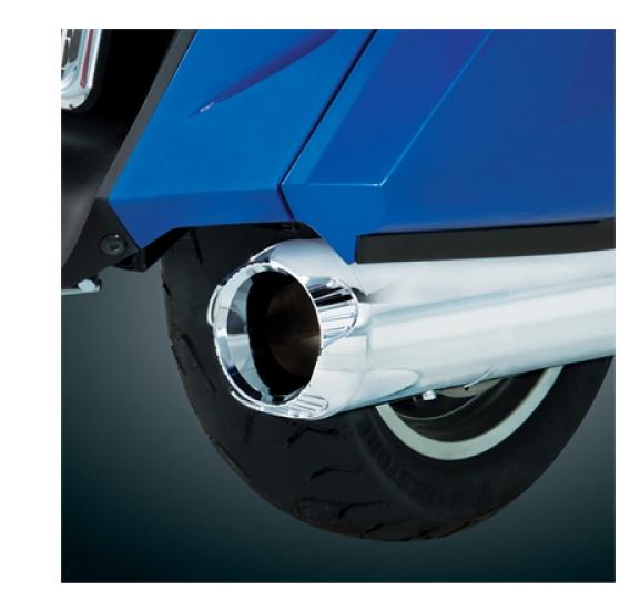 Big Bike Parts Verchromtes Auspuff Endrohr im Wellenschliff Design für die GL 1800 Bj.01-12