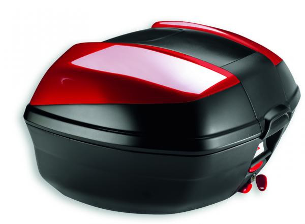 Ducati Original In Fahrzeug integriertes Topcase mit Lackcover und Schnelllösesystem Rot Multistrada