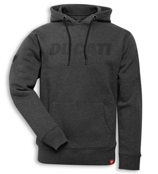 Ducati Original Sweatshirt mit Kapuze Hoodie LOGO Grau