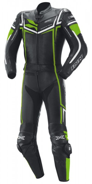 iXS-2-teiler-Damenkombi Ray schwarz-fluo grün-weiss
