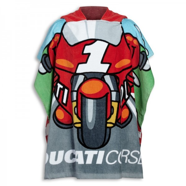 Ducati Poncho-Bademantel Cartoon Kinder
