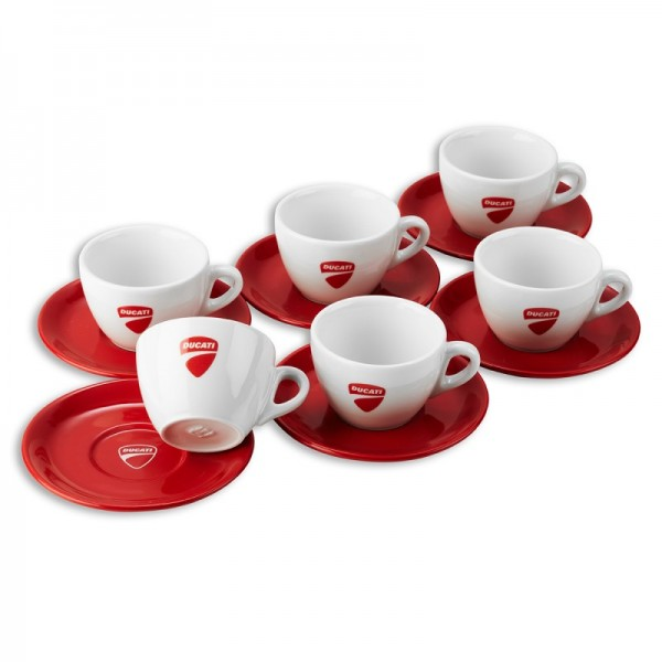Ducati Company Set mit 6 Cappuccinotassen